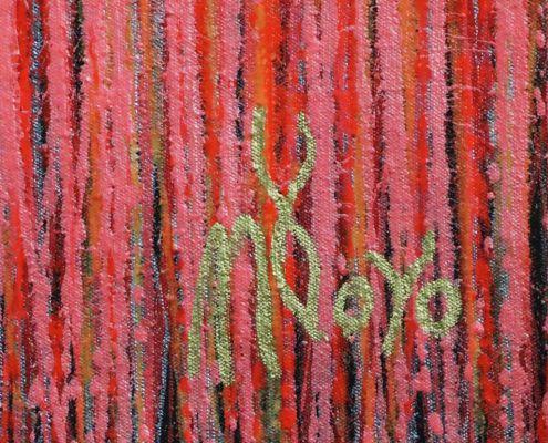 Signature - Carmin Spectra ( Florescent Garden) (2020) by Nestor Toro - SOLD