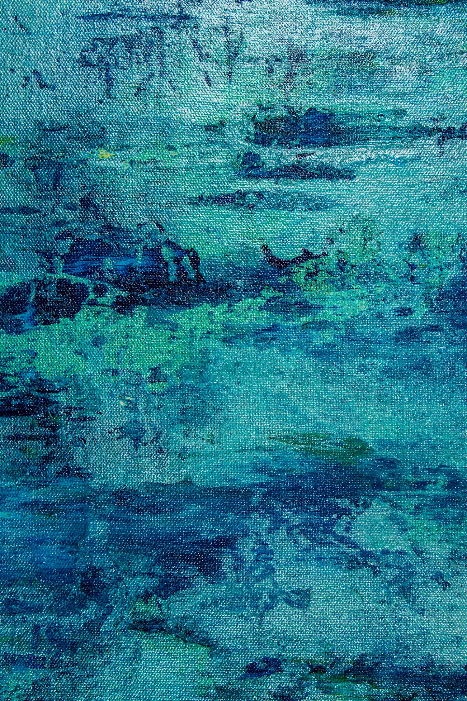 Detail / The Deepest Ocean (Turquoise spectra) 2 (2020) by Nestor Toro / SOLD