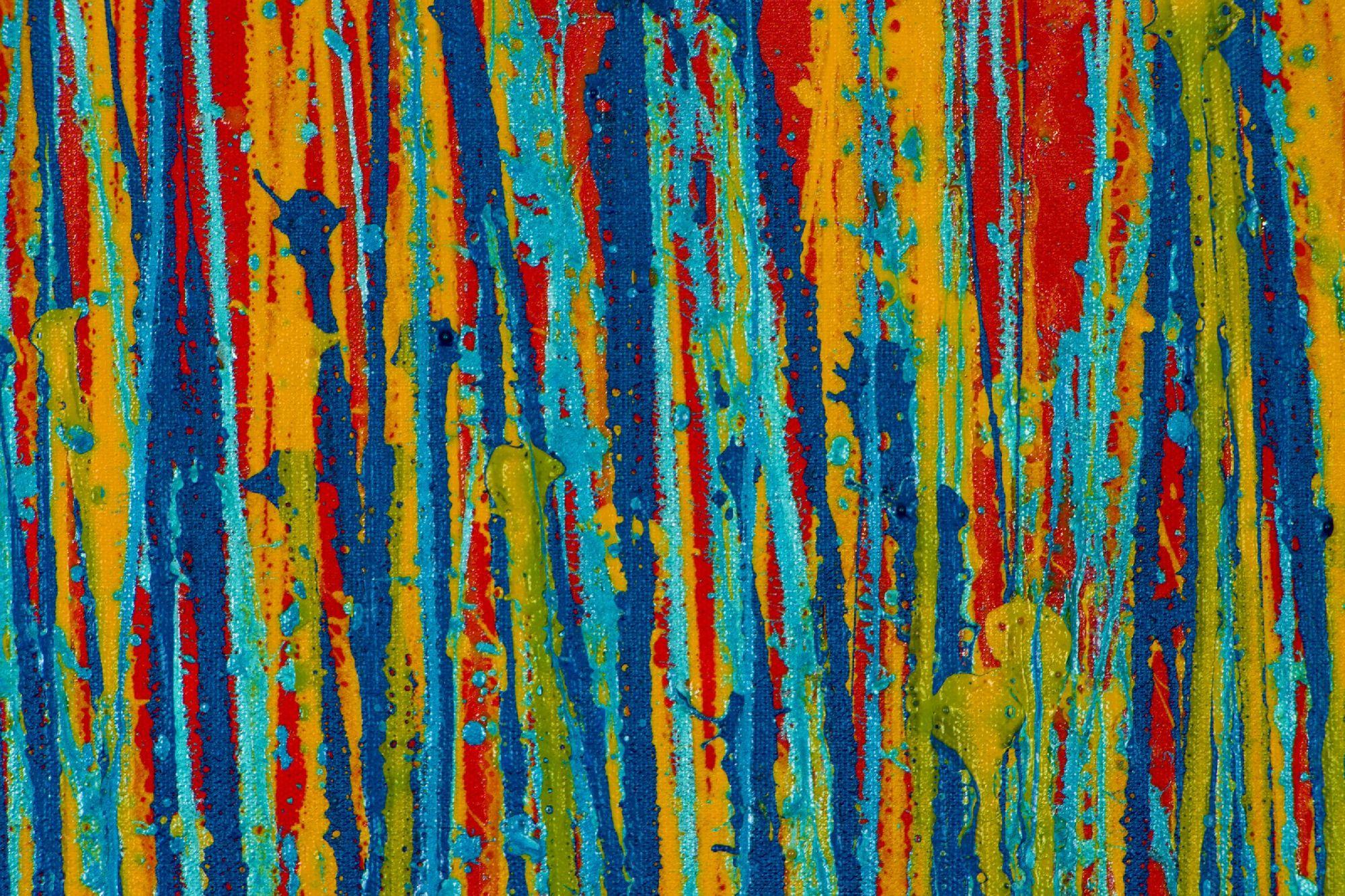 SOLD - Garden Rhythm (Over Red) 2 (2020) by Nestor Toro