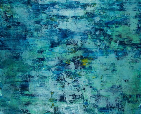 SOLD / The Deepest Ocean (Turquoise spectra) 2 (2020) by Nestor Toro