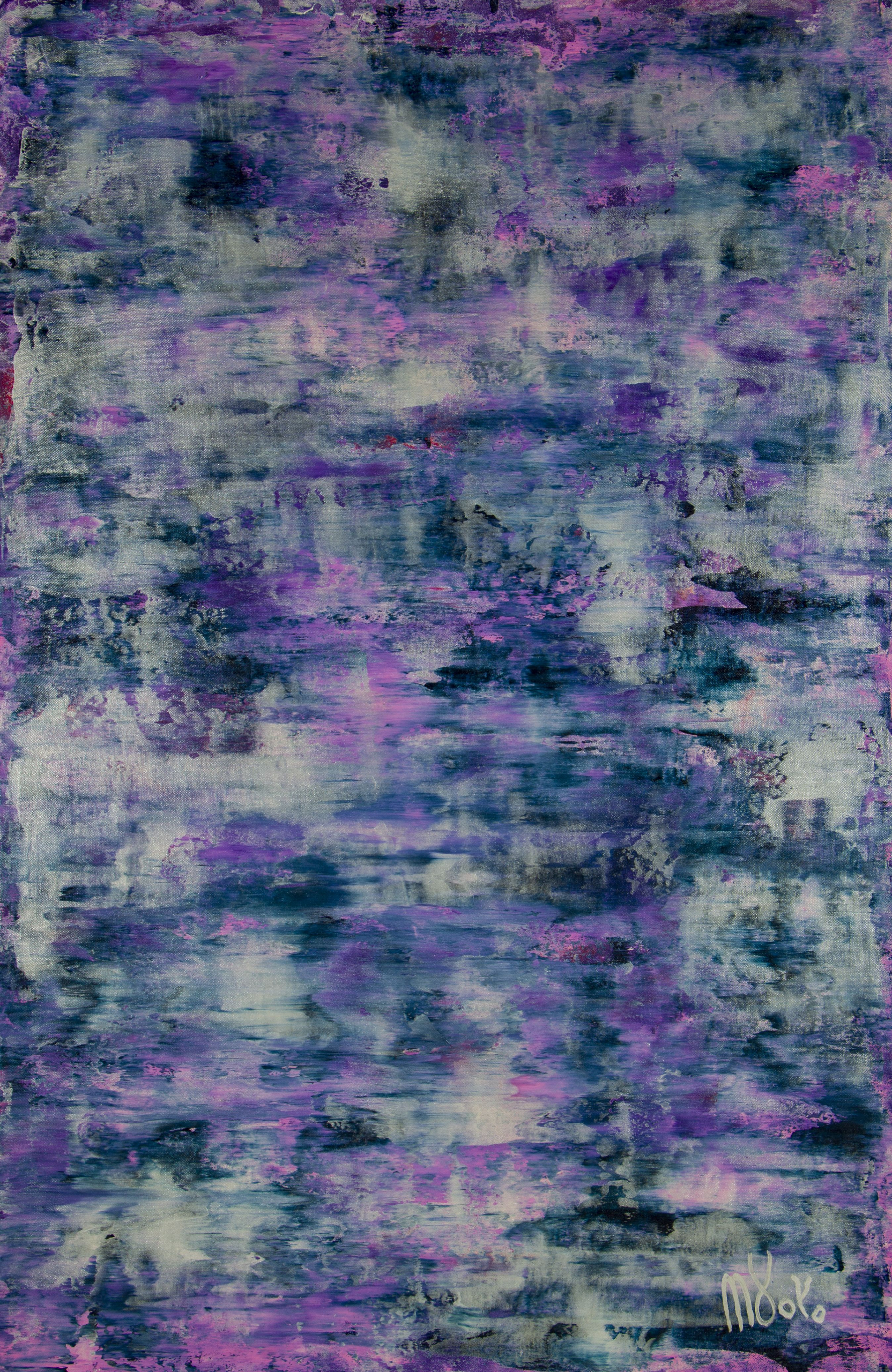 Silver Clouds (Over Purple) / (2020) by Nestor Toro