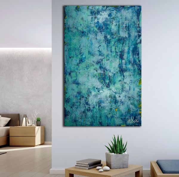 Room View / The Deepest Ocean (Turquoise spectra) (2020) by Nestor Toro