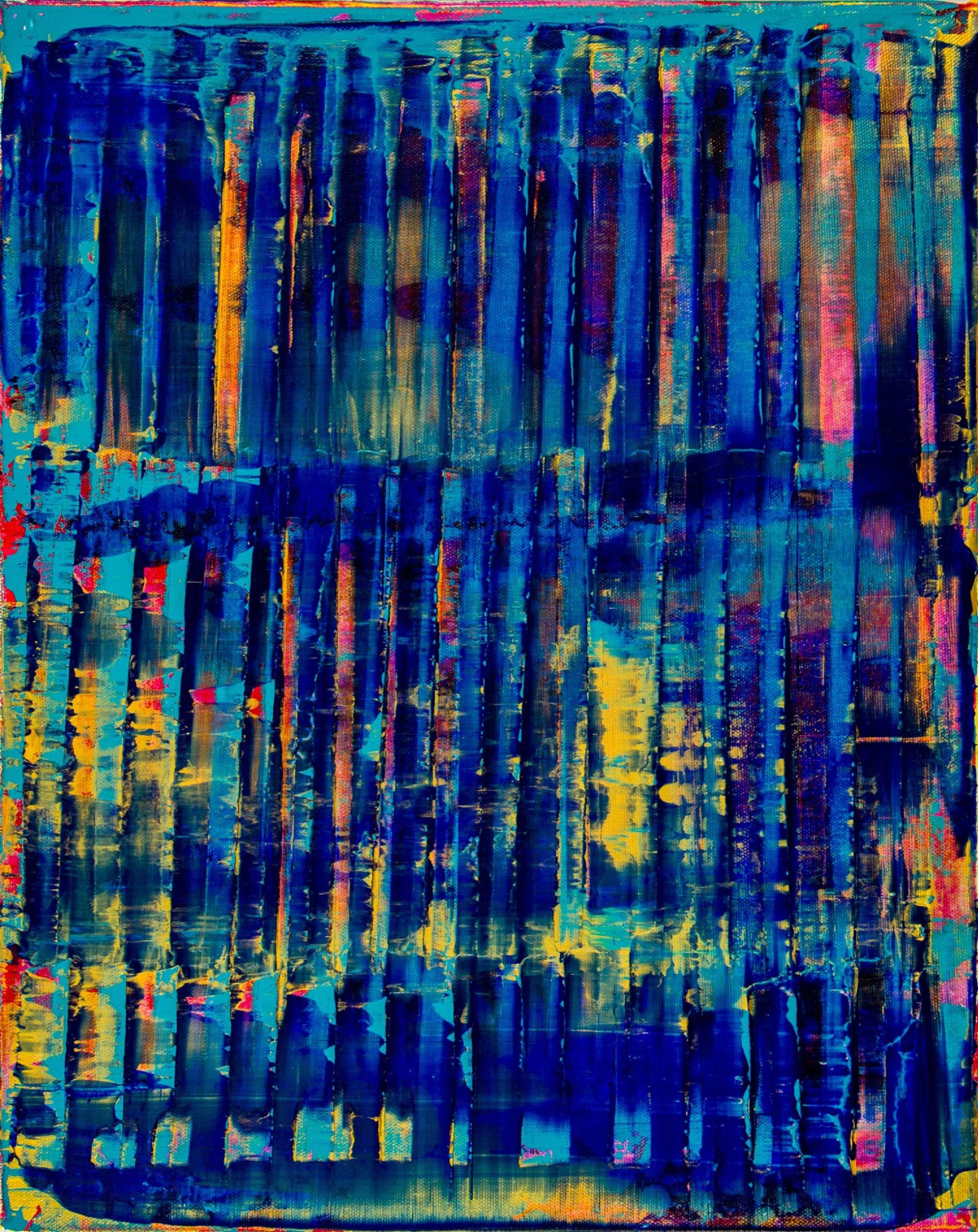Canvas #2 / Breeze Intrusion (Gold Cracks) 2020 / Triptych by Nestor Toro
