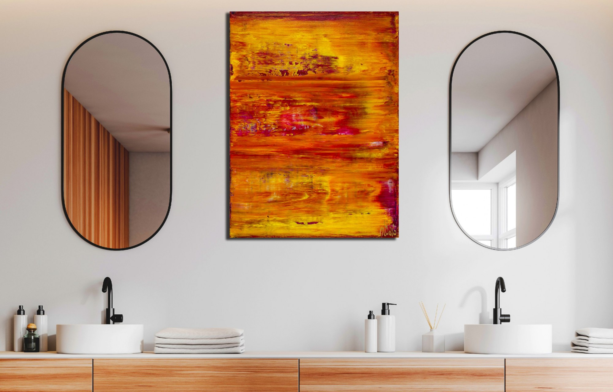 Room view - Fiery Dimensions 4 (2020) by Nestor Toro