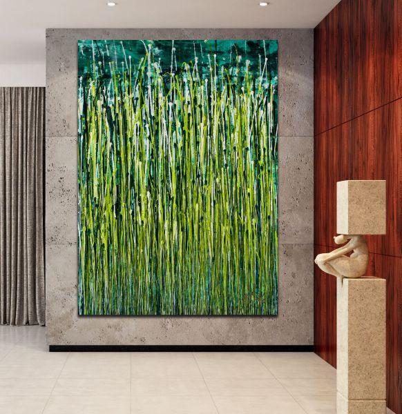 Room example / Evergreen Garden (2020) by Nestor Toro / 35x46 inches