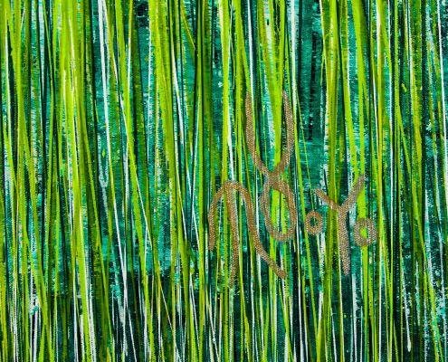 Signature / Evergreen Garden (2020) by Nestor Toro / 35x46 inches
