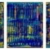 SOLD - Breeze Intrusion (Gold Cracks) 2020 / Triptych by Nestor Toro