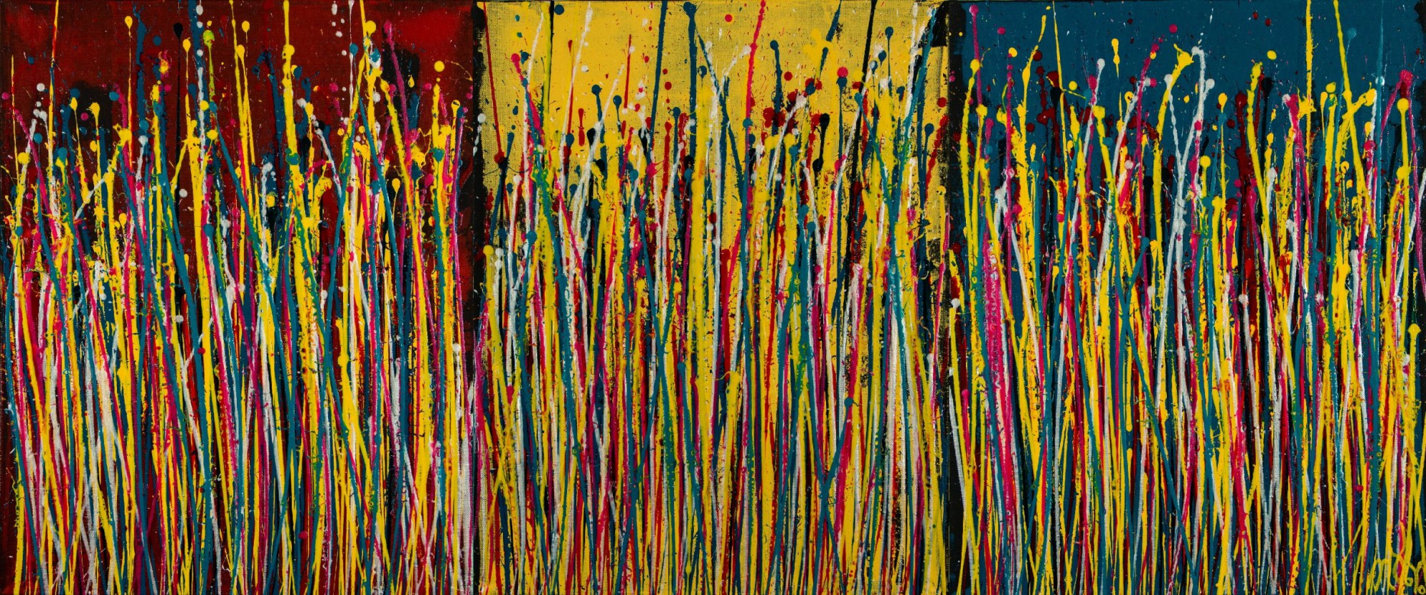 Natures Imagery (Scattering Colors) 2 (2021) / Triptych / Artist Nestor Toro