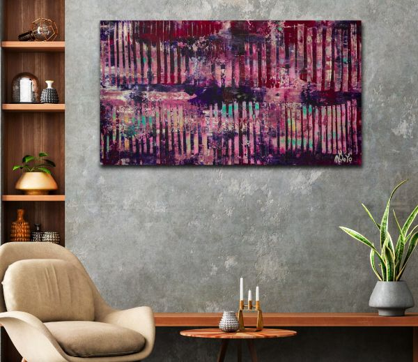 SOLD - Room example / Behind The Landscape 2 (2020) by Nestor Toro
