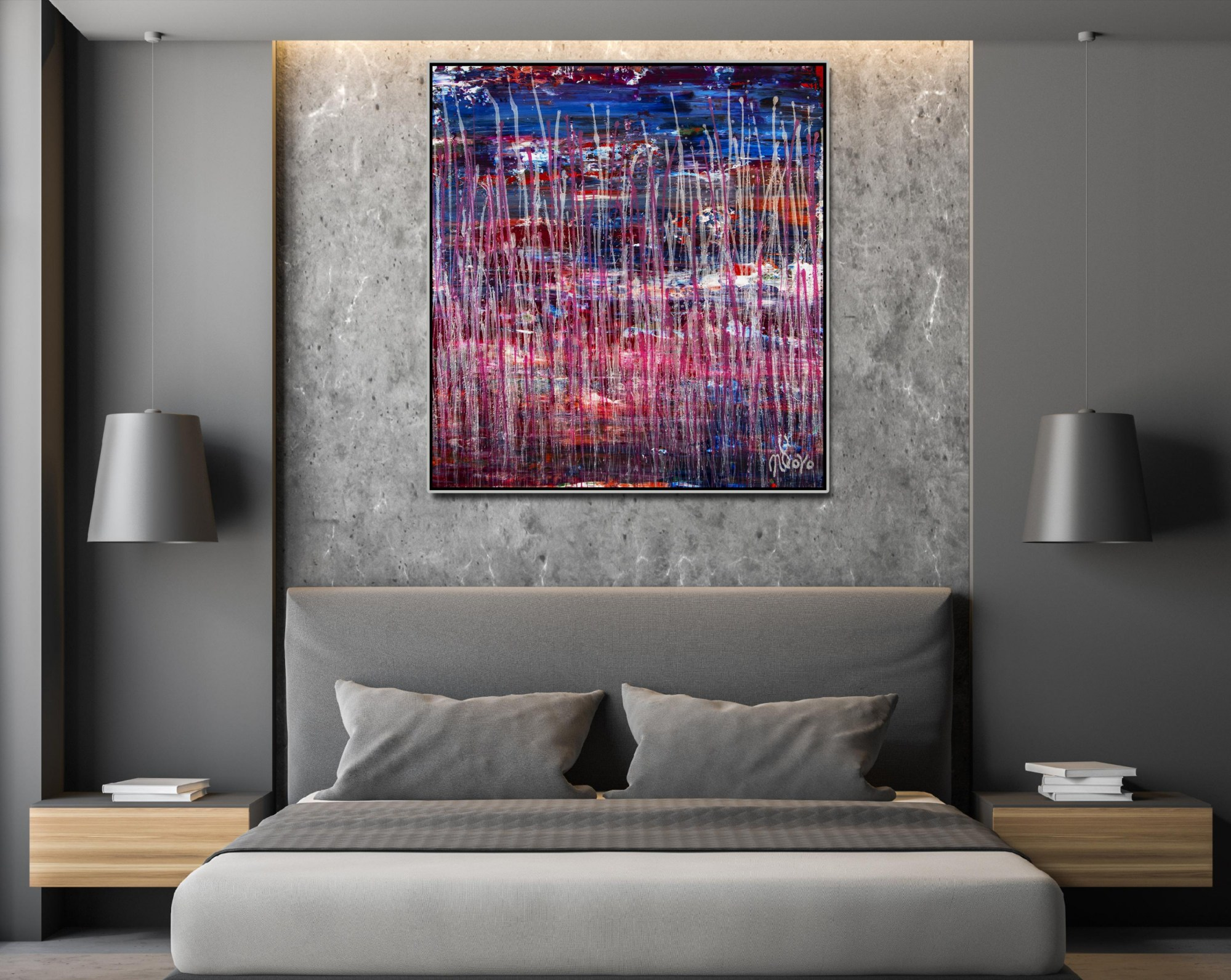 SOLD - Torrential Night Storm (A closer look) 2 (2021) by Nestor Toro