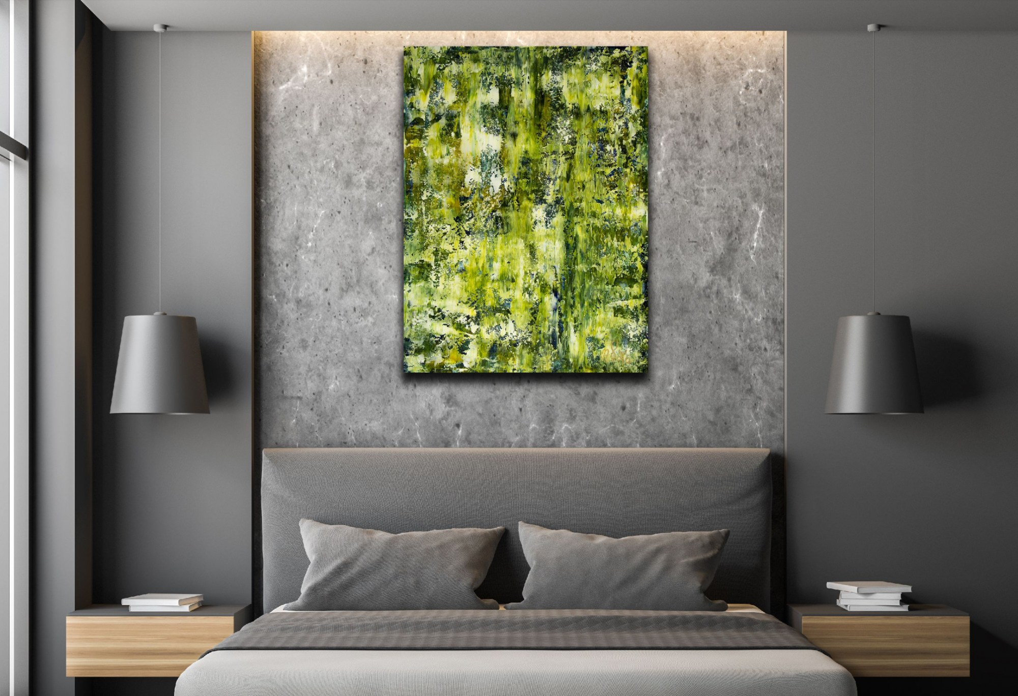 Room example - Forest and Light Trails (2021) by Nestor Toro
