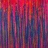 Drizzles Expressions (Over Neon) (2021) - Canvas #1 / Triptych