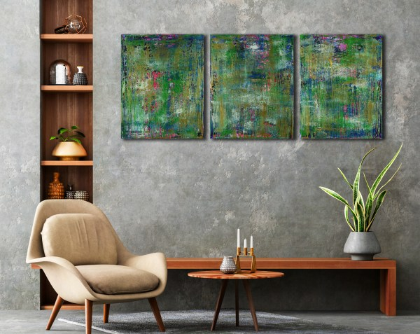 Natures Equation (2021) Room Examples / Triptych / Artist: Nestor Toro