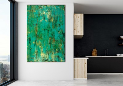 Emerald Panorama (Gold Intrusions) (2021) / Artist - Nestor Toro