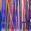 Signature / Color Blast (Over Blue) (2021) / Triptych / Artist: Nestor Toro