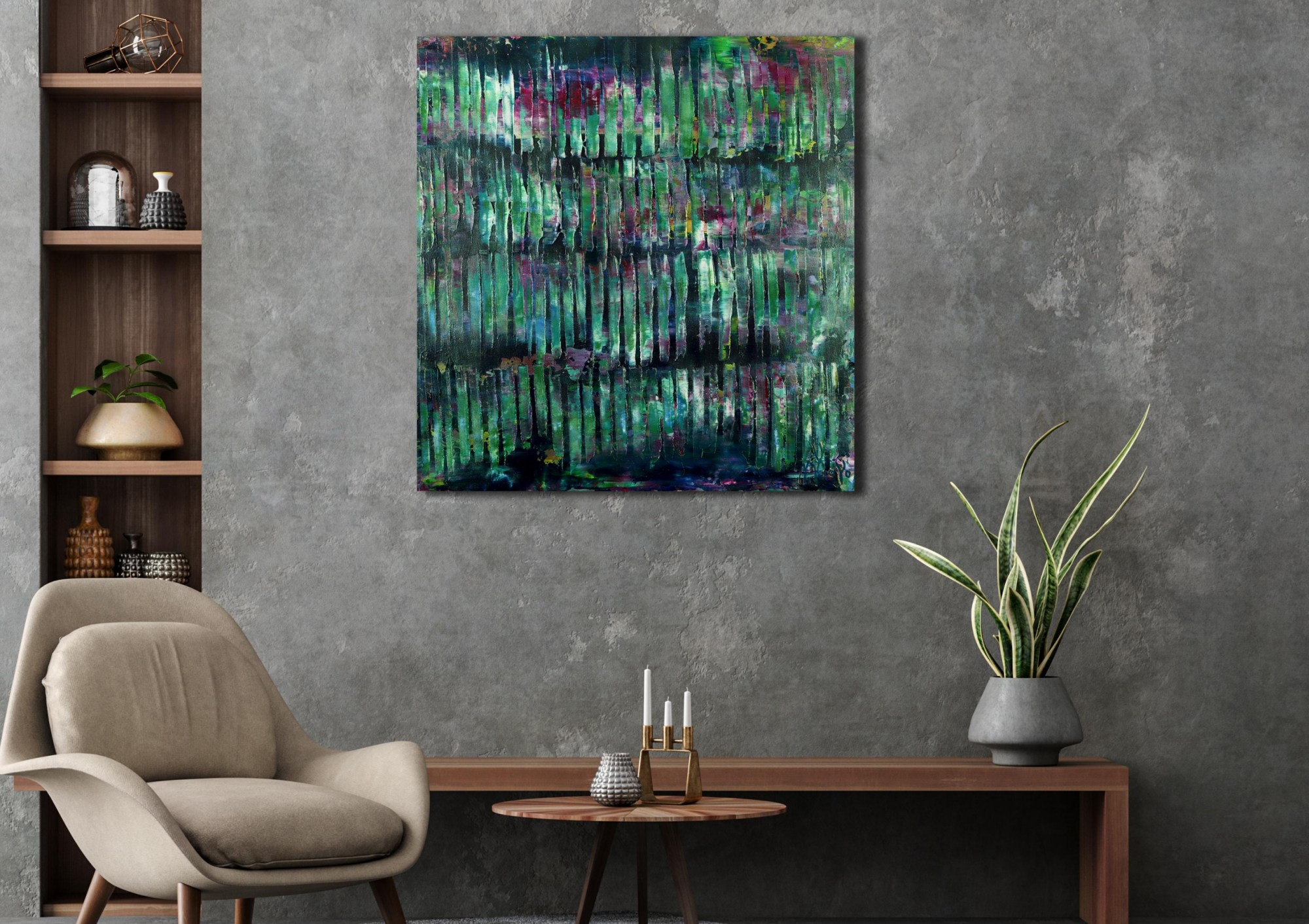Iridescent Green Forest 1 (2021) by Nestor Toro