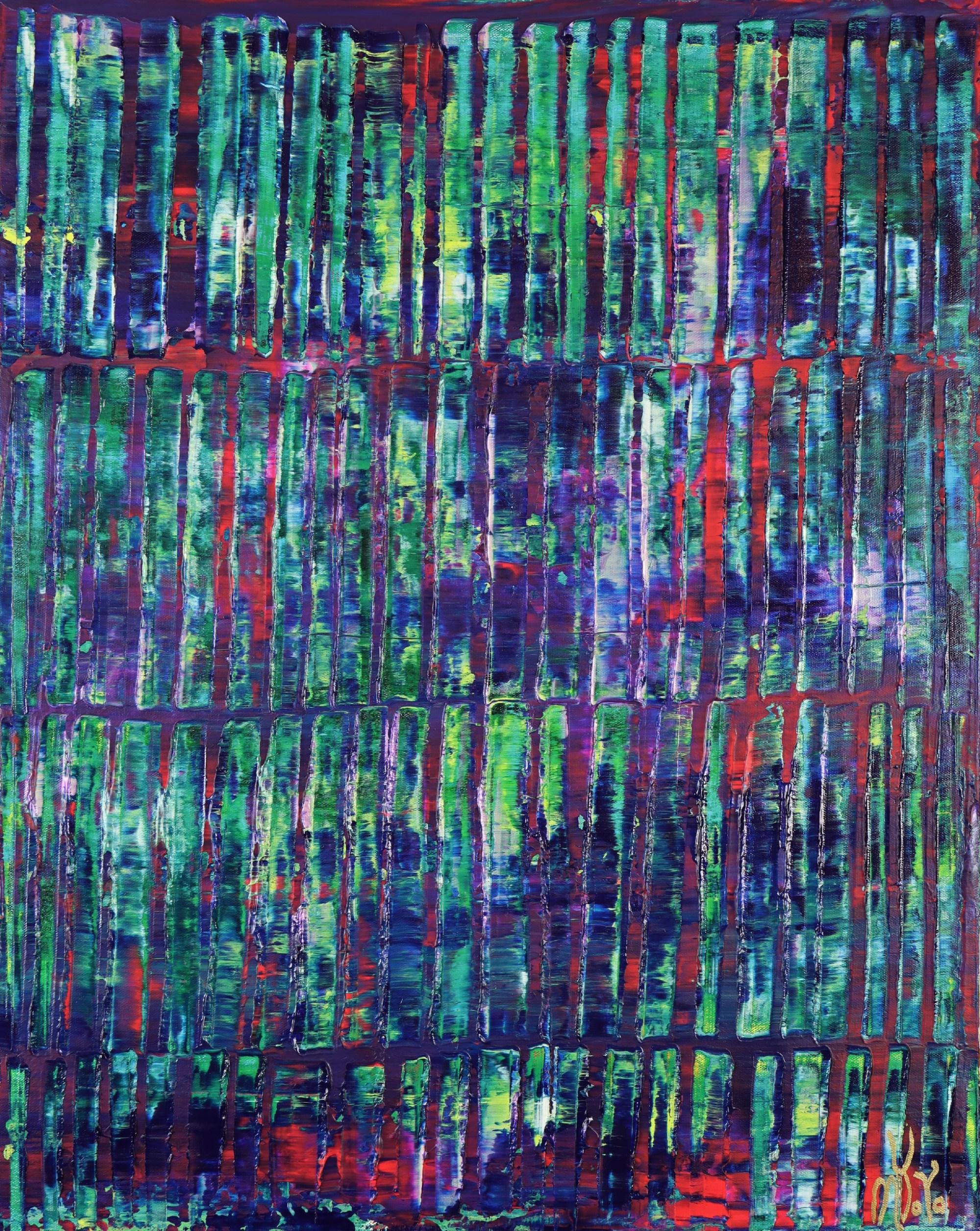 Iridescent Green Forest (2021) / Full canvas / Artist: Nestor Toro