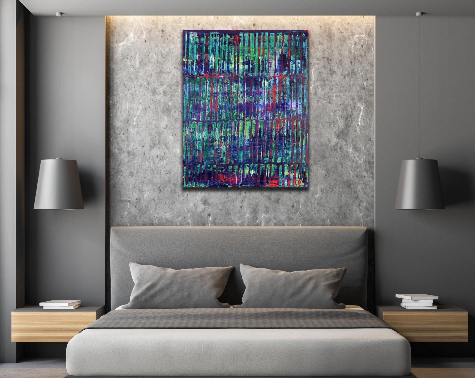 Iridescent Green Forest (2021) / Room example / Artist: Nestor Toro