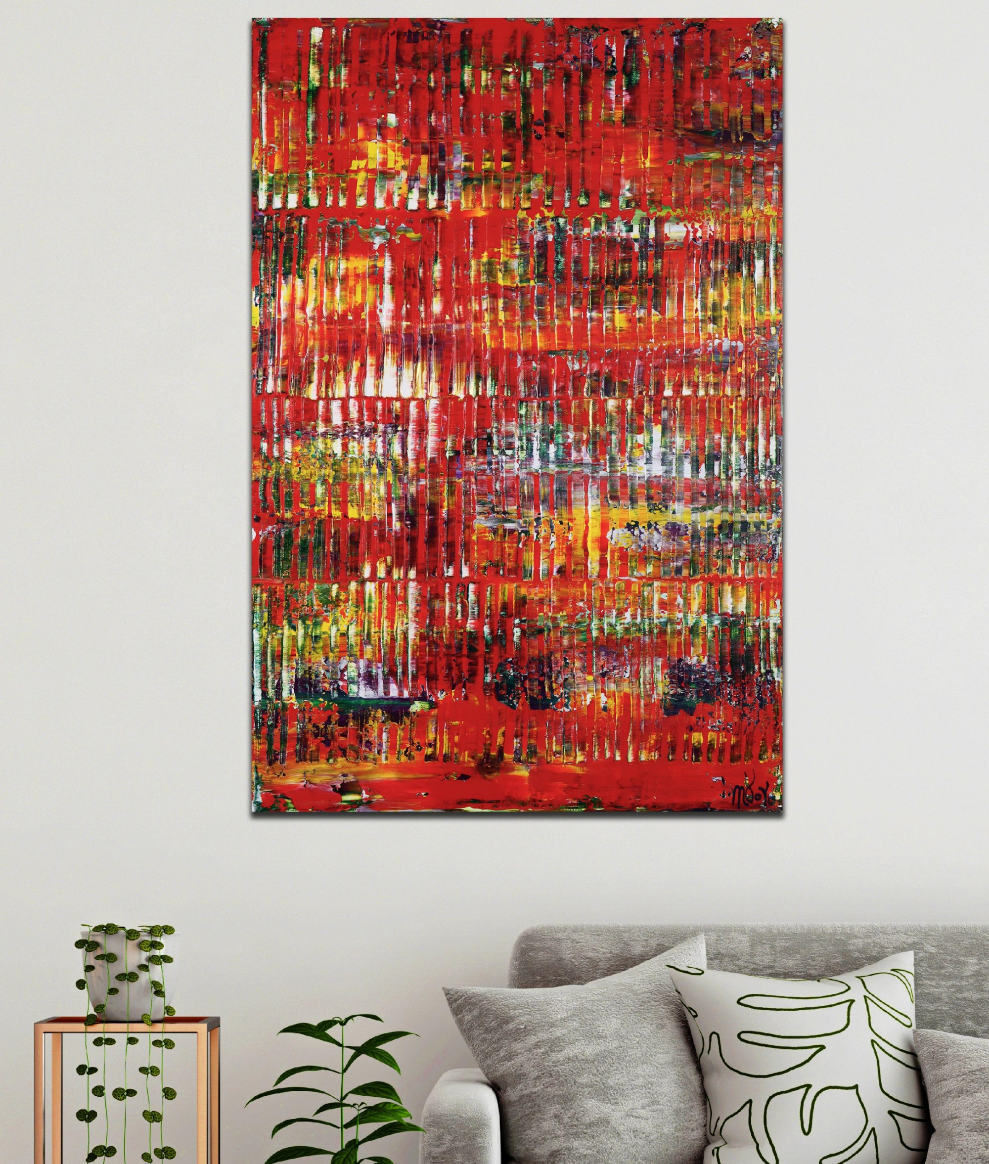 Infinitely Red (Color reunion) (2021) / 24x36 inches