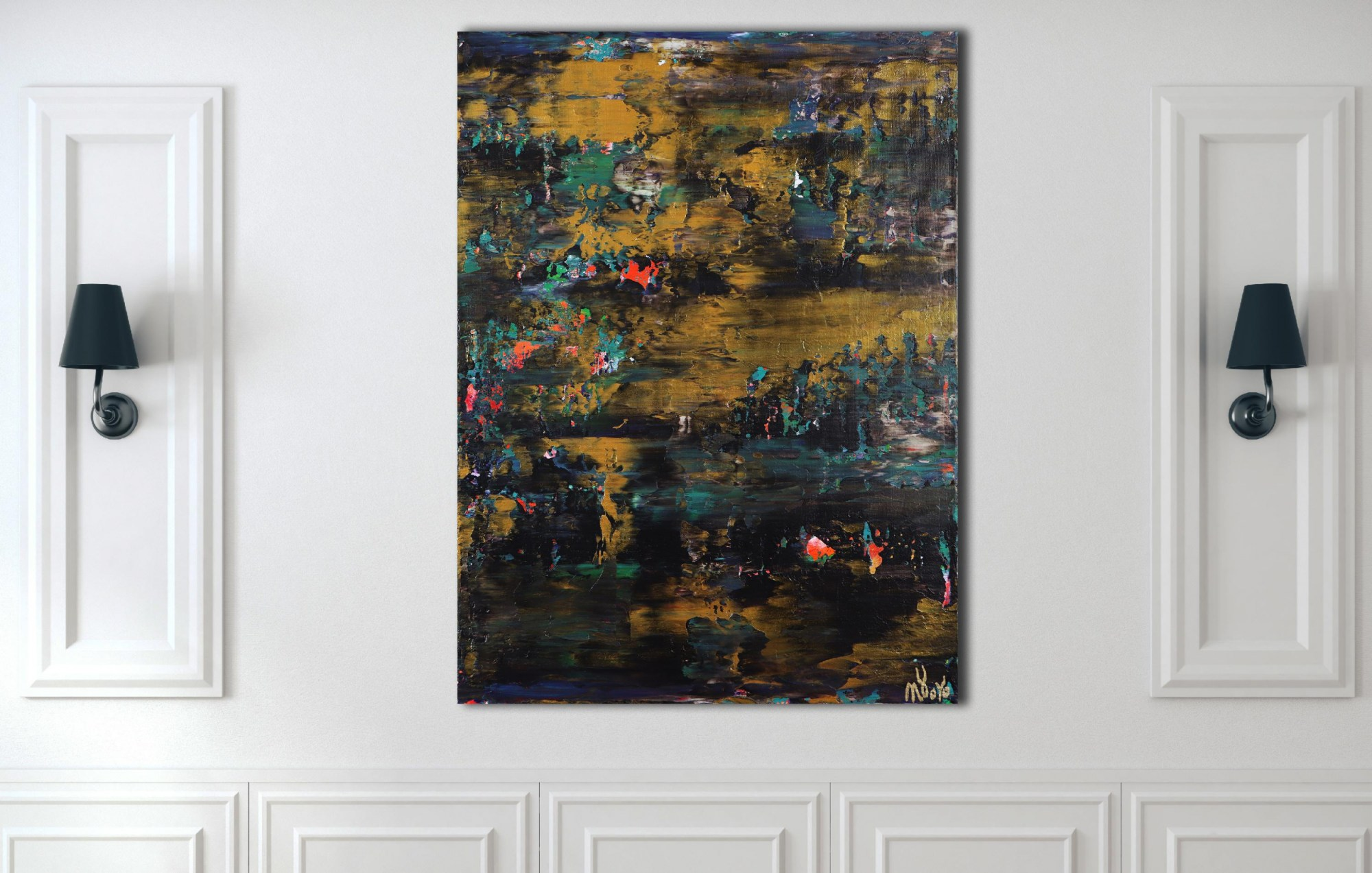 Room example / Nocturn Panorama 7 (2021) 18x24 inches / Los Angeles