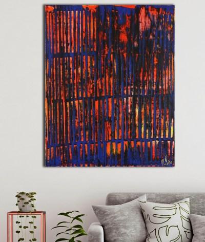 A Color Equation 3 (2021) / 24x30 / Artist: Nestor Toro