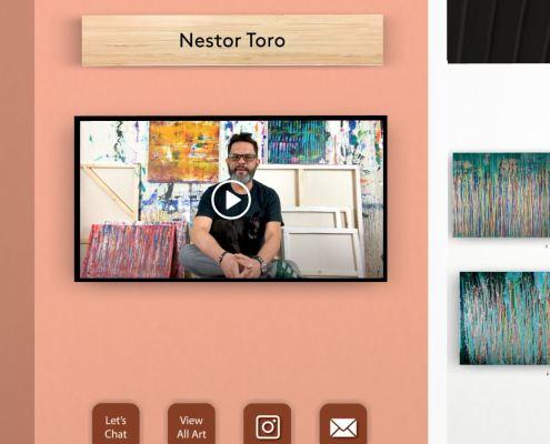 Artist Nestor Toro at The Other Art Fair - VE - 2021 - Los Angeles