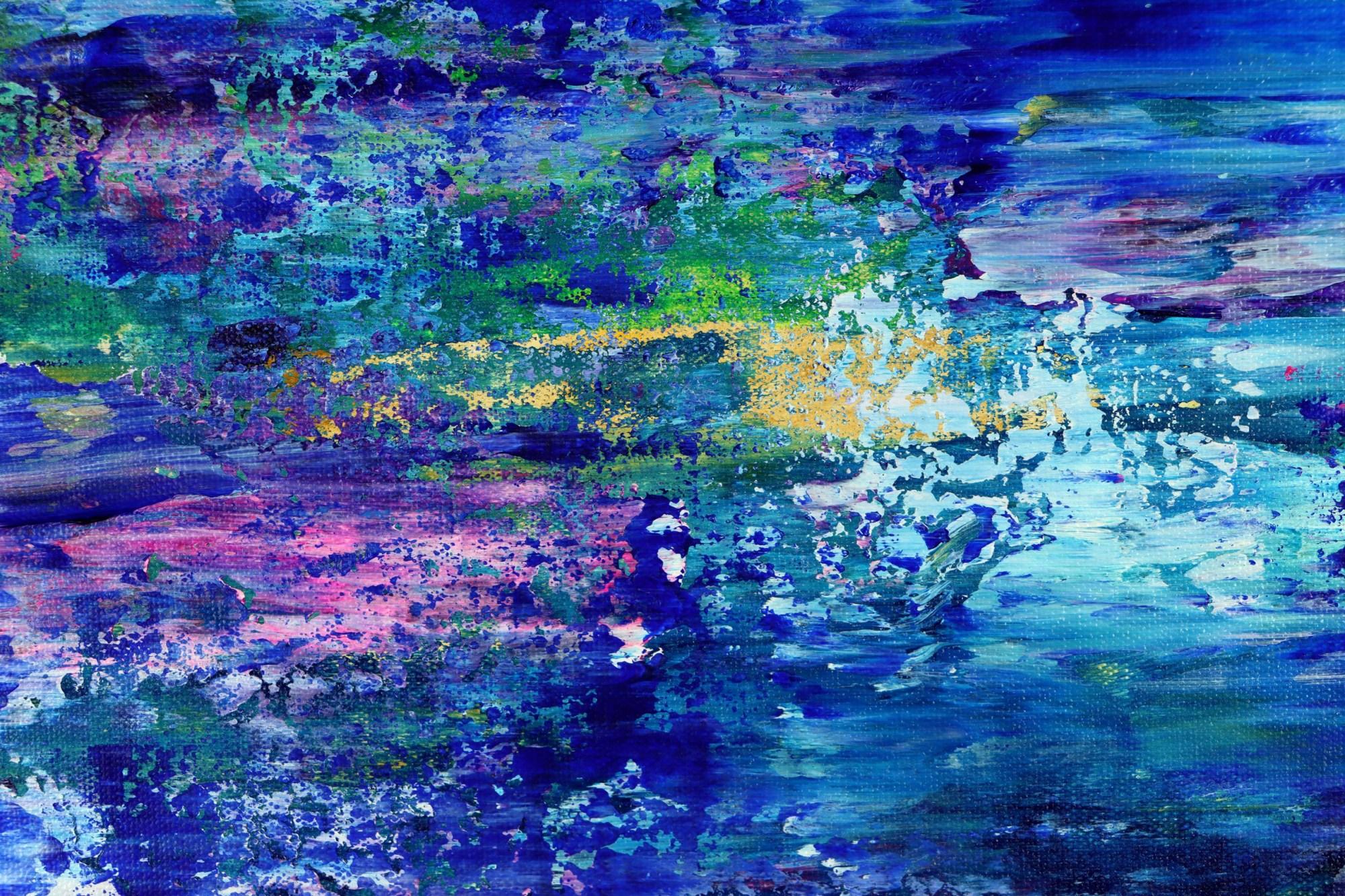 DETAIL / Caribbean Ocean Waters (2021) by Nestor Toro