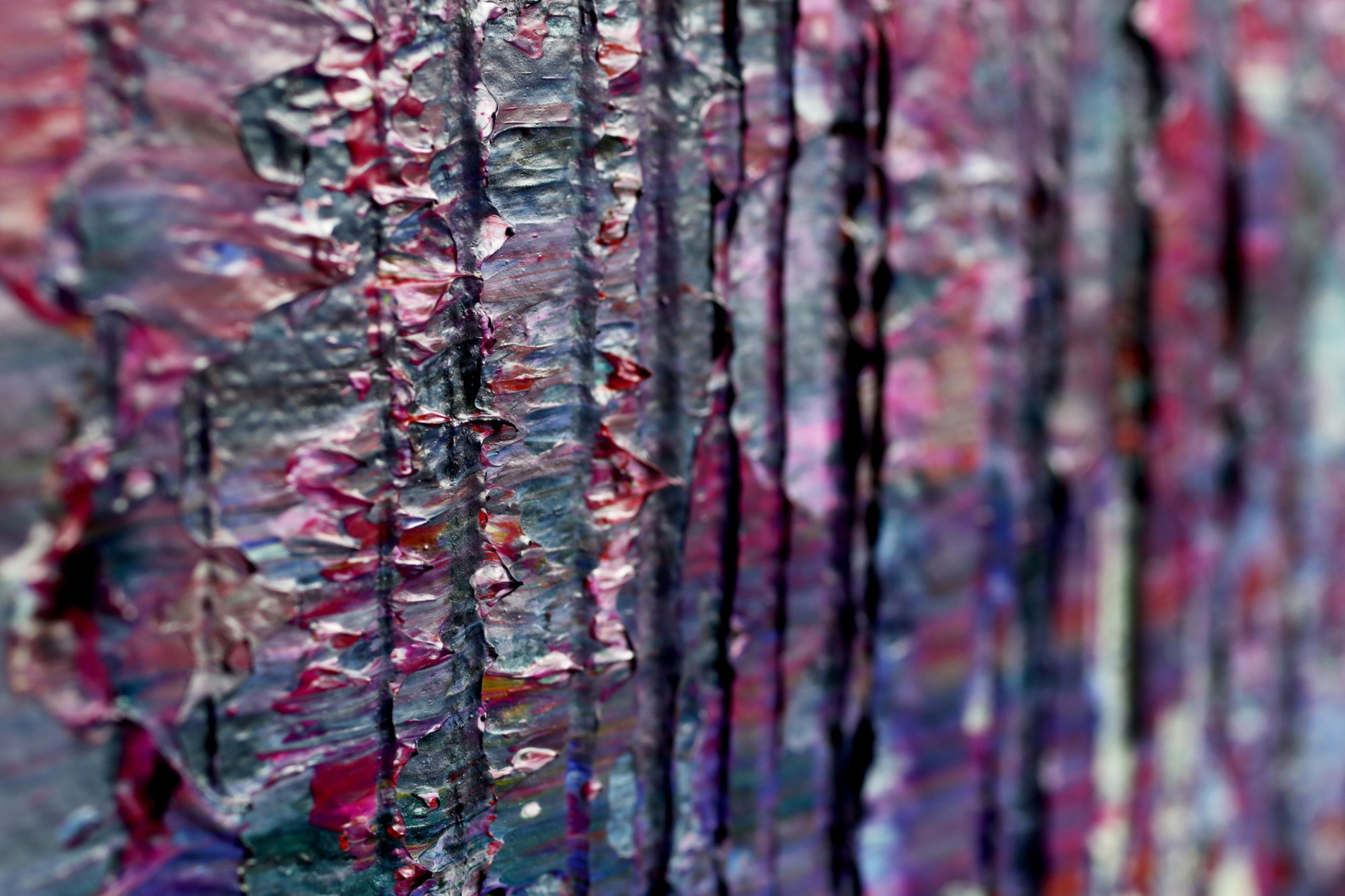 TEXTURE CLOSE-UP / Purple Shade Panorama (Lavender Radiance) (2021) / 36 x 48 inches