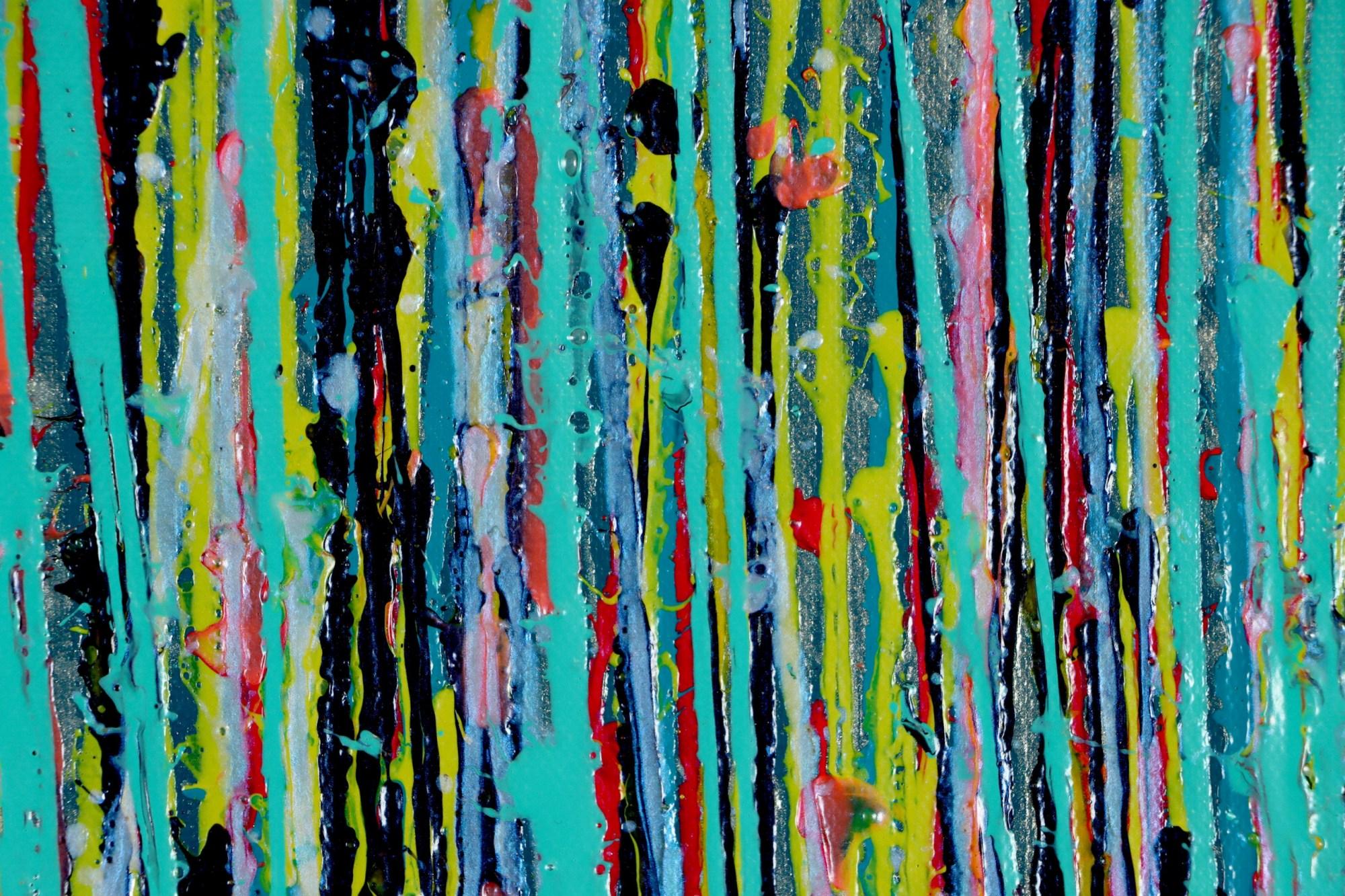 DETAIL / Blue Symphony (Natures Dance) 2 (2021) - 24x36 in / Artist: Nestor Toro