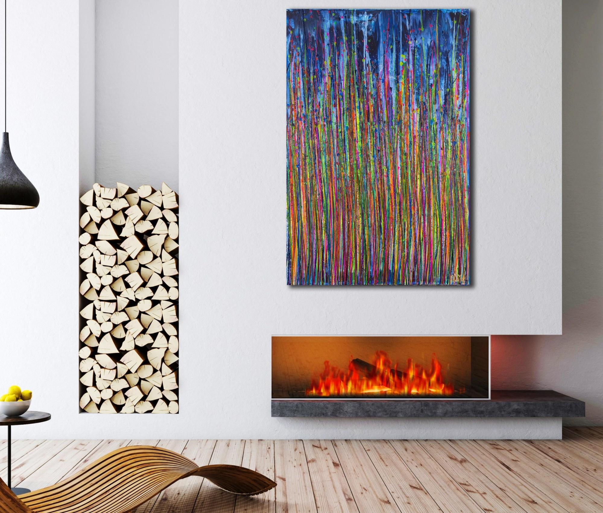 Room example / High Frequency Garden 1 (2021) / Artist: Nestor Toro