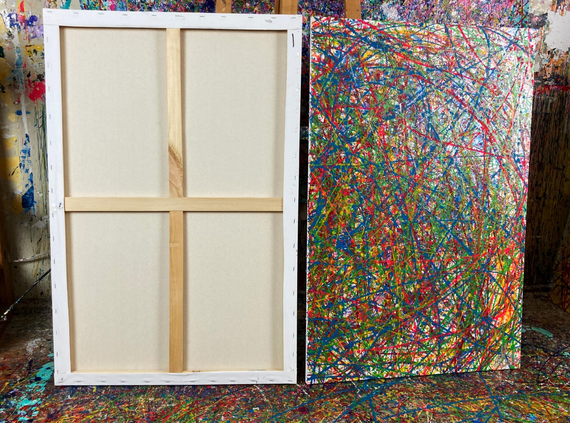 BACK VIEW / Colorful display of affection 2 (2021) / Diptych