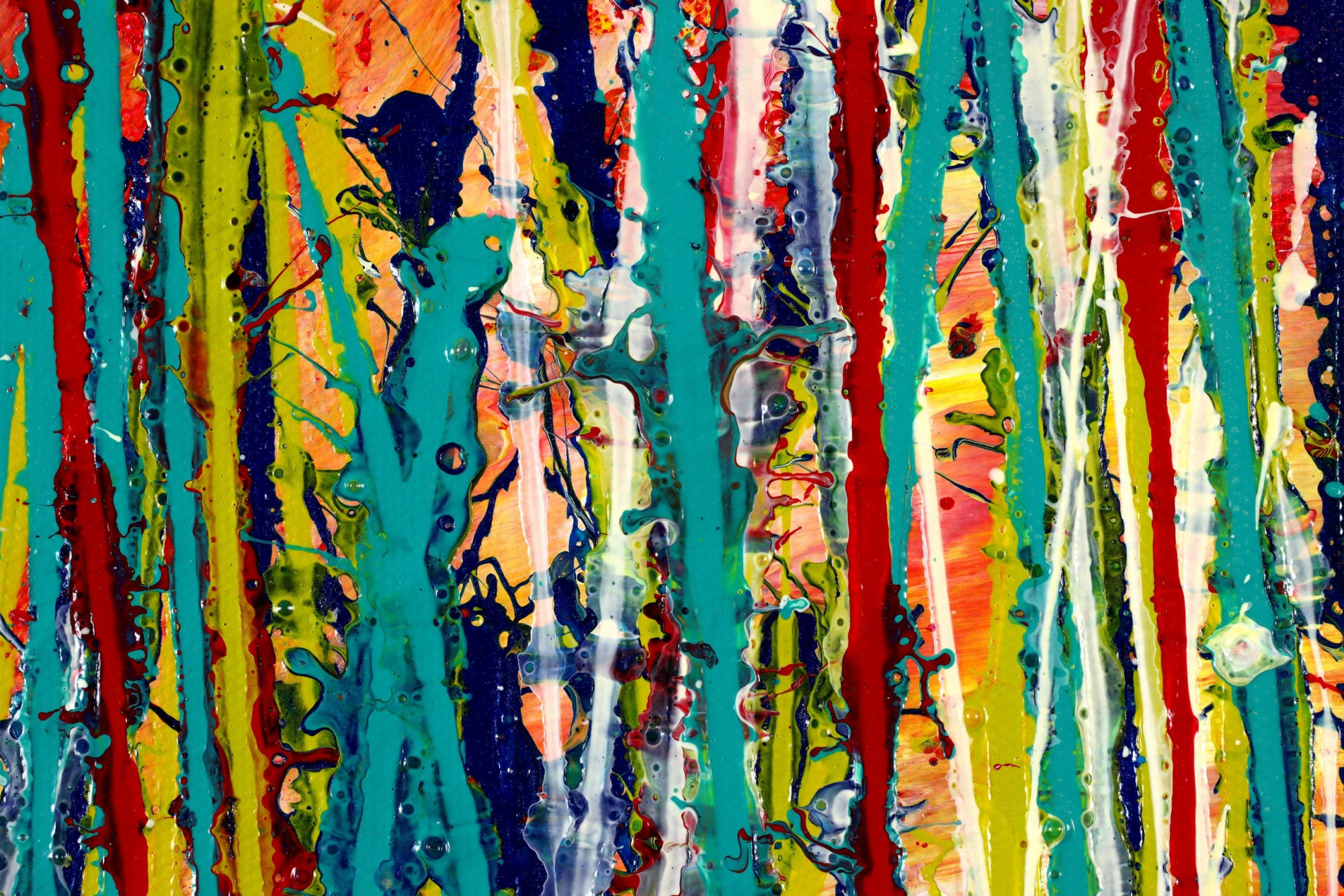 DETAIL / Autumn Motion (2021) - Ready to Hang - 48x24 inches