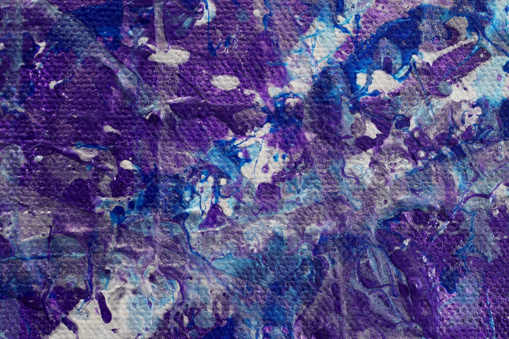 DETAIL / Purple Display of Affection (With Blue and Silver) 2 Painting