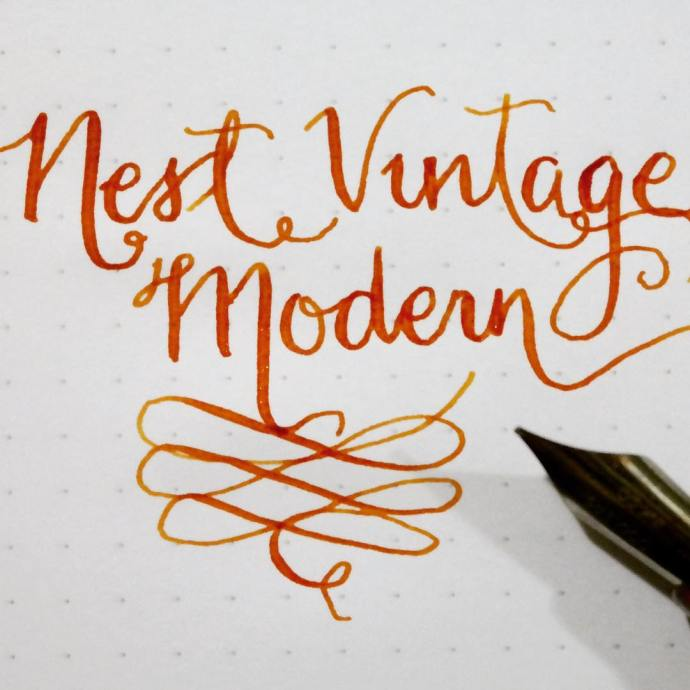 Learning the ways of the flex nib NoodlersInk NoodlersApacheSunset Ahabhellip