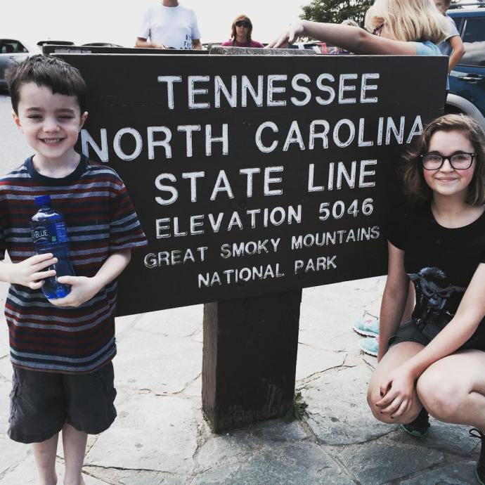 At the Tennessee / North Carolina state line