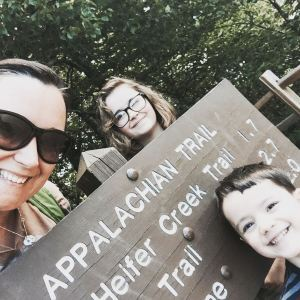 Summer road trip - day hike on the Appalachian Trail.  #GreatSmokyMountains #NationalParks #VintageTinTrailer #AppalachianTrail #hike #roadtrip #familytime #family #hiking