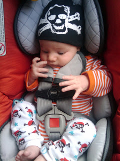 Arrrrrgh! Ahoy! Will is 6 weeks old.