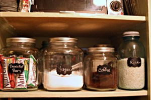 Chalkboard canisters: done!
