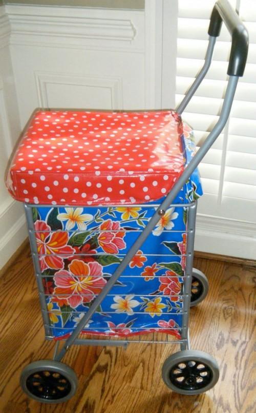 market shopping cart liner