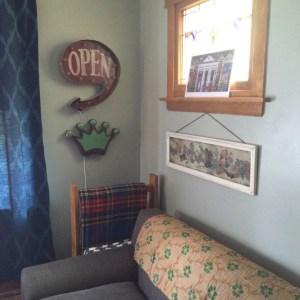 Vintage home decor: my living room