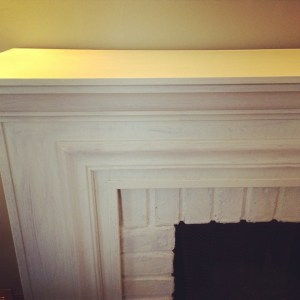 DIY: Painting a fireplace