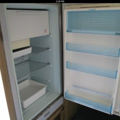 Fridge is no longer installed (didn't work) --Original listing photo from previous owner