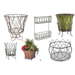 French wire planters