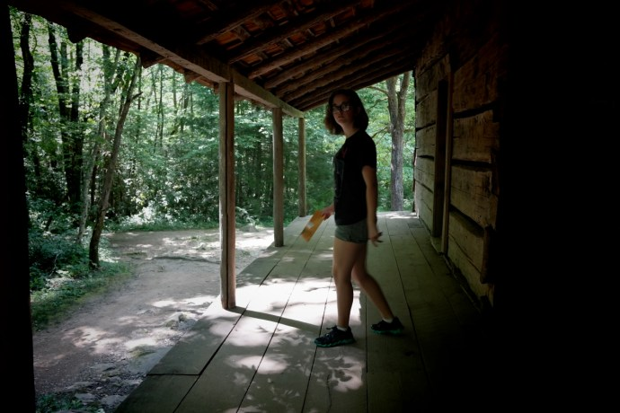 Fi at the Bud Ogle Cabin, Great Smoky Mountains