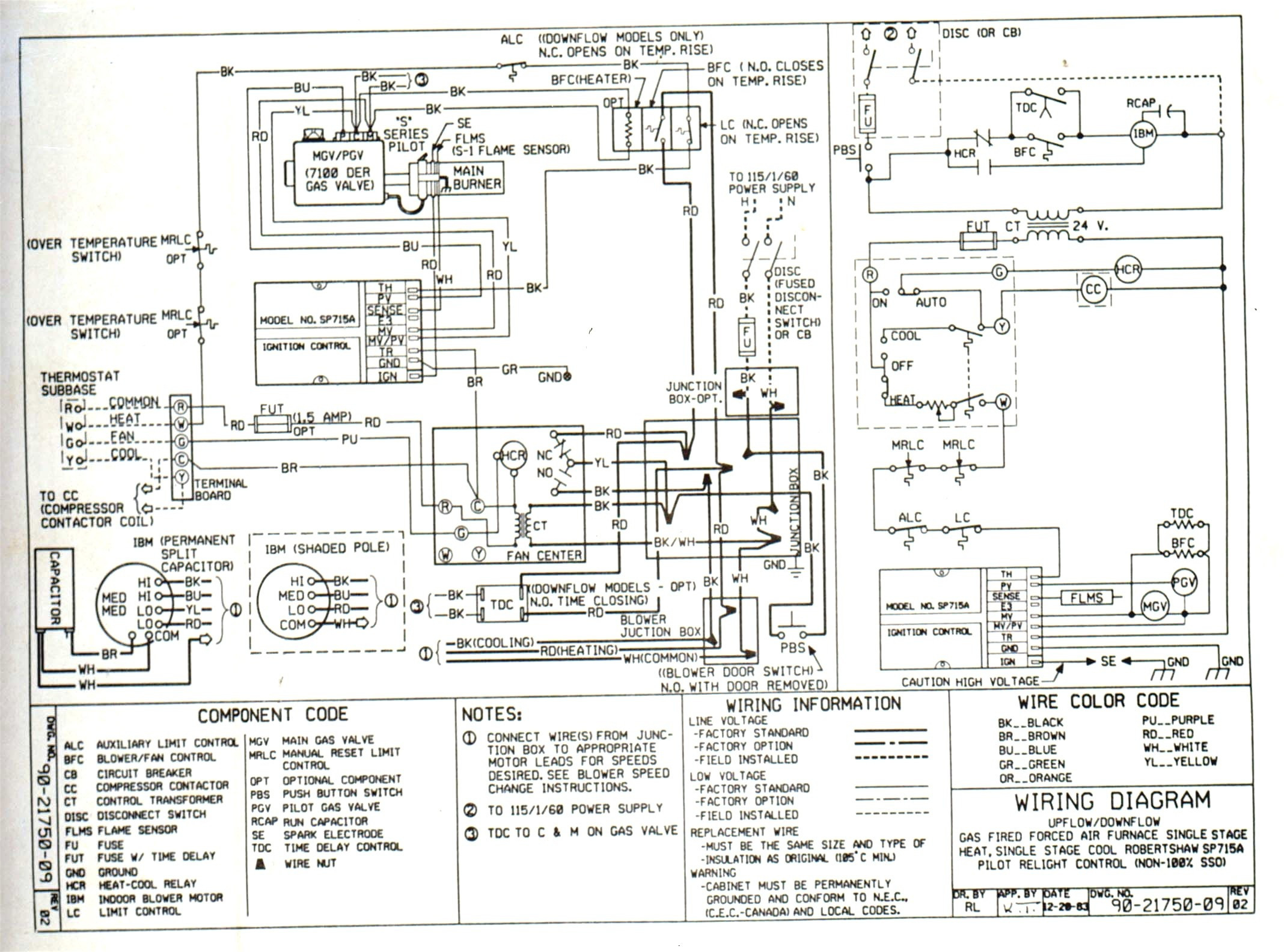 95fd5 Thermostat Wiring Diagram X1 Manual