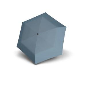 Moteriškas skėtis Doppler Fiber Mini Compact, šviesiai mėlyna, išskleistas