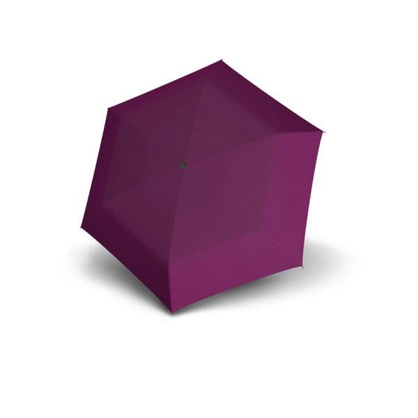 Moteriškas skėtis Doppler Fiber Mini Compact, vyšnių, suskleistas