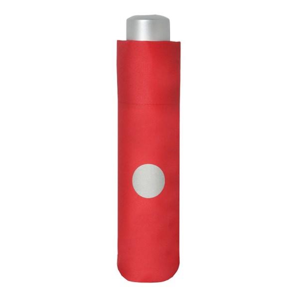 Vaikiškas skėtis Doppler Kids Reflex, raudona, su atšvaitu, suskleistas