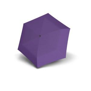 Moteriškas skėtis Doppler Fiber Handy Uni, violetinė, išskleistas
