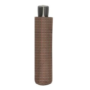 Vyriškas skėtis Doppler Fiber Mini, ruda, suskleistas